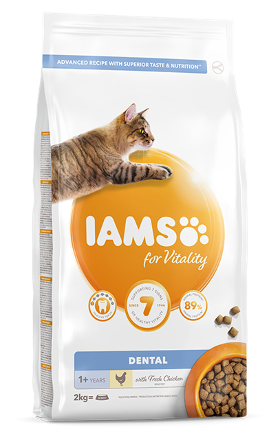 IAMS for Vitality Dental cat food with Fresh Chicken